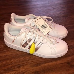 NWT Adidas Rose Gold Superstars with Cloudfoam